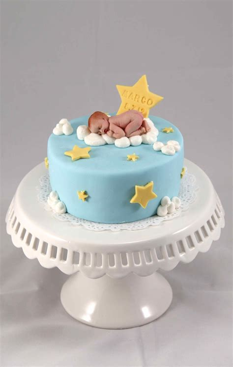 1 Month Baby Celebration - baby on cloud for one month celebration cakecentral