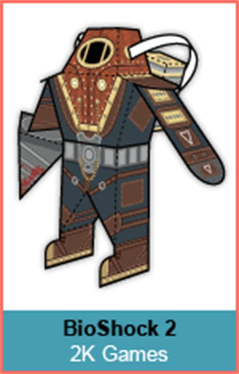 Bioshock Papercraft - paper foldables paper craft toys by bryan