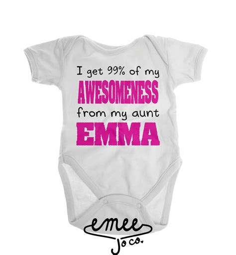 Funny baby clothes aunt gift gifts for aunts i love my by emeejoco