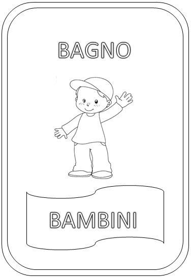 disegni per bagni cartelli indicatori per i bagni da colorare paperblog