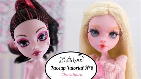 ooak doll tutorial faceup tutorial 5 ooak draculaura repaint custom doll