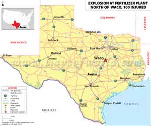 map of showing waco pictures to pin on
