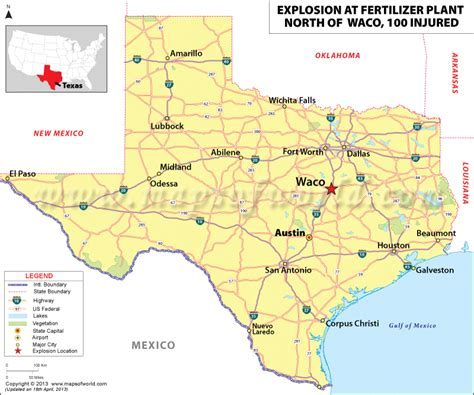 waco texas on a map fertilizer plant explosion near of waco texas world news