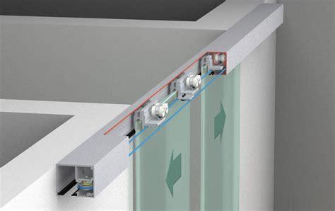 Ceiling Mounted Sliding Door Track by Sliding Door Hardware Eku Porta 100 Gw Gwf Synchro Set