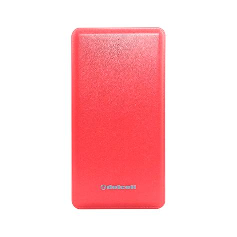 delcell note powerbank slim 10500mah real capacity polymer battery elevenia