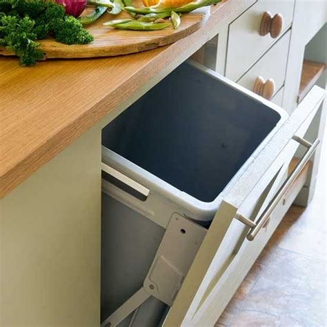 kitchen bin ideas integral bin take a tour around a restful farmhouse kitchen housetohome co uk