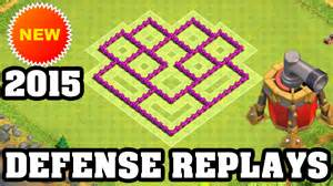 Town hall 6 defense replay coc th6 best hybrid base layout defense