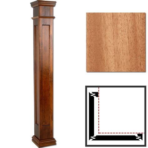Modern Prairie Style House Plans mahogany wooden outside corner column 10 quot x 6 square