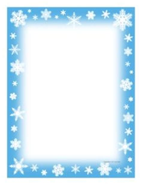 lined paper with snowflake border best photos of snowflake writing border paper free