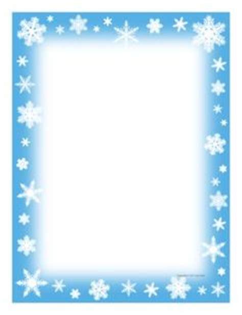 winter border writing paper frozen border clipart