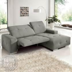 sofa mit elektrischer sitztiefenverstellung ecksofa francisco sofa grau sand mit elektrischer