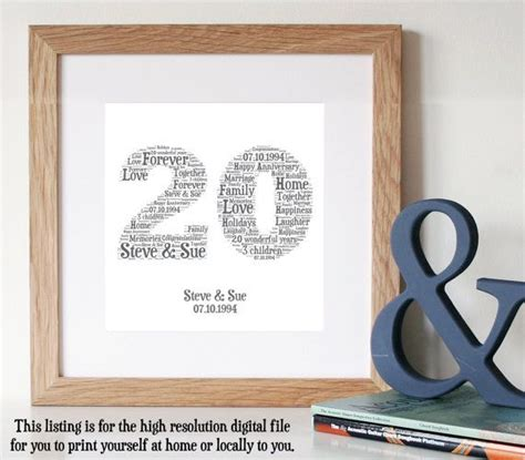 20 Year Wedding Anniversary Gifts by Best 25 20 Year Anniversary Ideas On