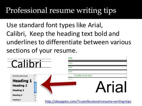 professional resume writing tips