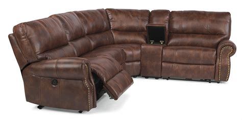 power reclining sectional sofa carlton flexsteel com