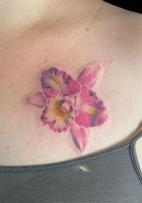 watercolor orchid tattoo orchid watercolor pictures to pin on
