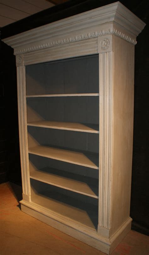 Break Front Bookcase Antique Bookcases Uk Antique Painted Bookcases French