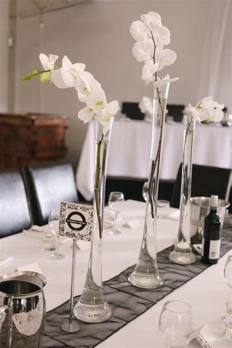 orchid centerpieces for dining table 32 clear flute vases white orchid centerpiece yi