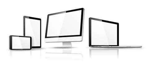 free caign monitor templates laptop with monitor and tablet prototype vector template