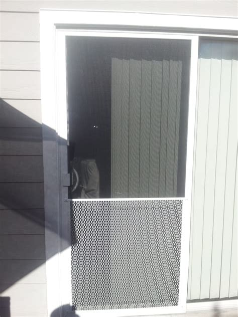 sliding screen door with pet guard yelp