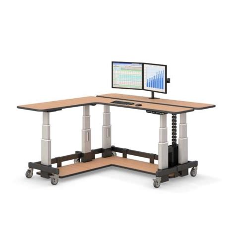 l on a stand two level l shaped sit stand desk afcindustries com