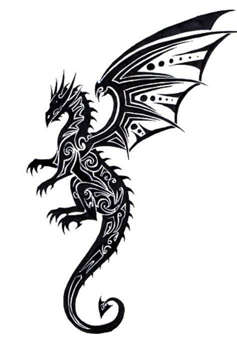 tribal dragon tattoo drawings 22 beautiful tribal only tribal