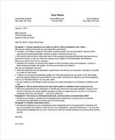 sle cover letter format 9 exles in pdf word