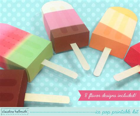 Gift Card Boxes For Parties - ice pop party favor boxes and gift card holders printable