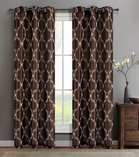faux silk curtain panels single gael faux silk window curtain panels w grommets ebay