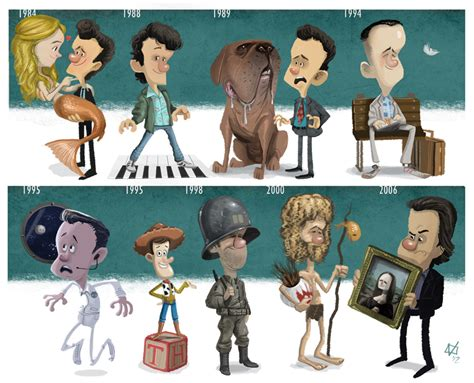new year story characters style evolution of tom hanks characters