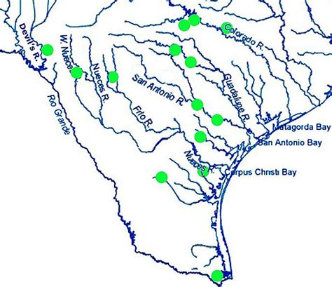 texas river map map of texas rivers pictures to pin on pinsdaddy