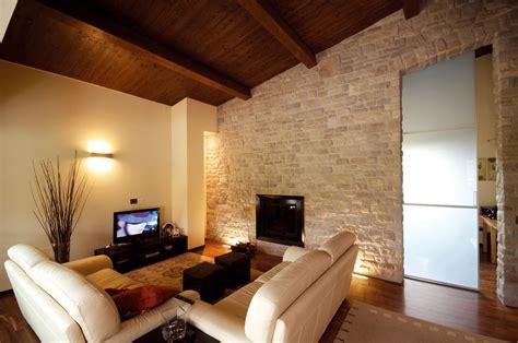 interni casa in pietra rivestimento in pietra delle pareti architetto digitale