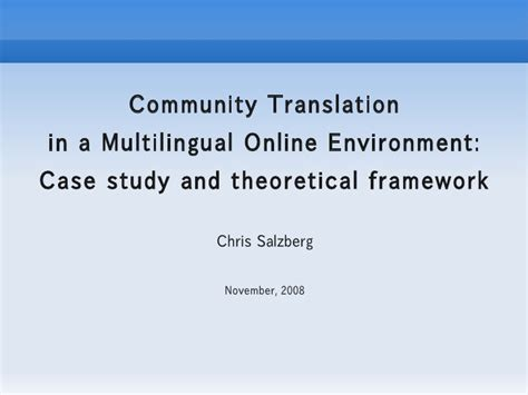 design for the environment case study community translation in a multilingual online environment