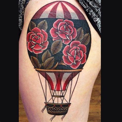 tattoo hot needles kaufbeuren neotraditional hot air balloon tattoo by lauren gow