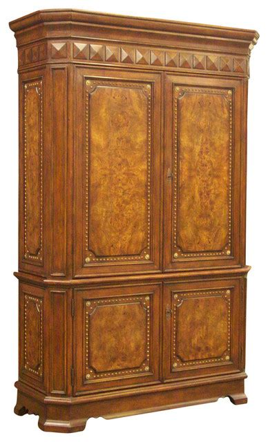 Sienna Burl Armoire Traditional Armoires And Wardrobes Homelegancela Inc Armoires And Wardrobes