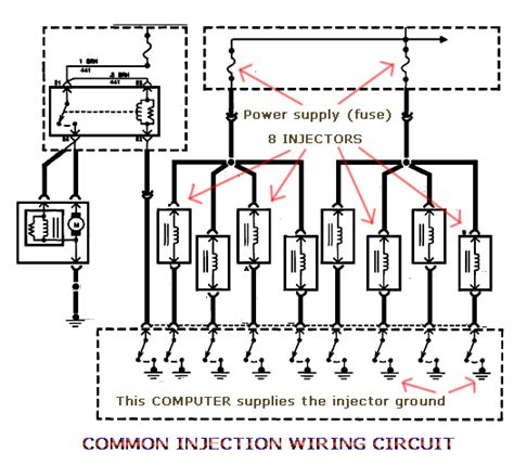 fuel injector circuit fuel free engine image for user