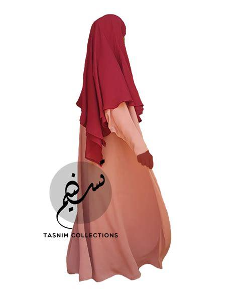 Khimar Chiffon two layer chiffon khimar amirah medium tasnim collections