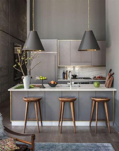 kitchen tiny kitchen island grey square modern wooden 30 grey kitchens that you ll never want to leave digsdigs