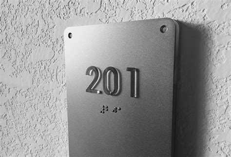 room number luxello illuminated modern room number sign braille surrounding