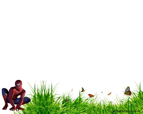 powerpoint templates free download grass spiderman on grass backgrounds presnetation ppt