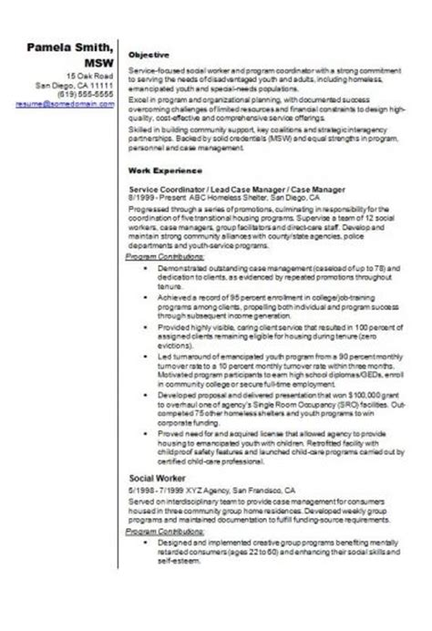 lcsw resume exle 37 images resume templates for summer