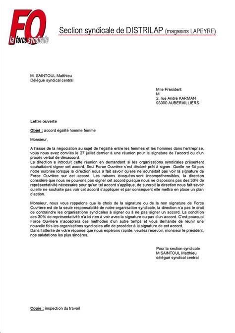 Exemple De Lettre Ouverte Dans Un Journal Fo Priv 233 E De Signature Chez Distrilap Magasins Lapeyre
