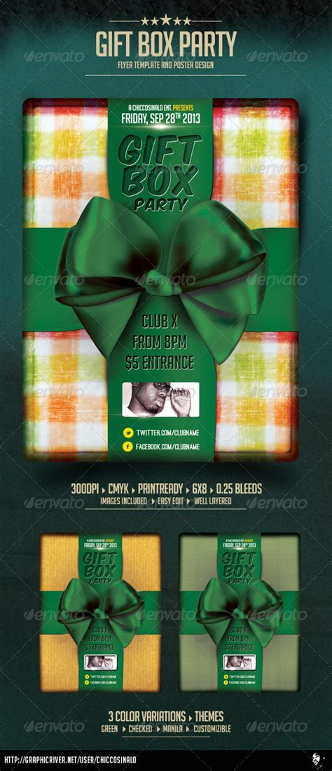 Red Gift Box Psd Flyer 187 Dondrup Com Gift Flyer Template