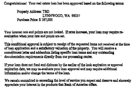 Commitment Letter For Fha Loan What Is A Conditional Approval