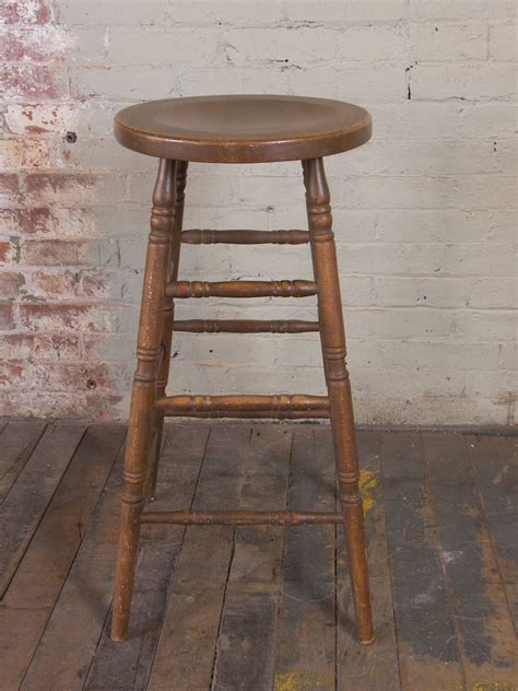 Antique Bar Stools For Sale by Vintage Wooden Bar Stool For Sale At 1stdibs