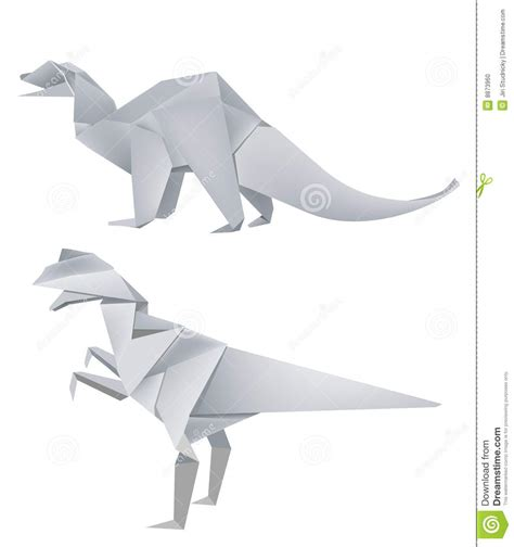 How To Make A Dinosaur Model From Paper Mache - origami dinosaur models stock photo image 8873960