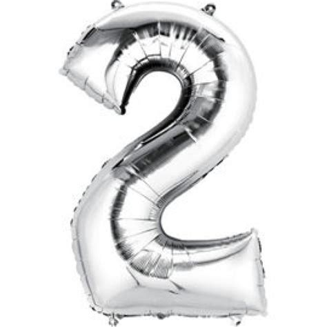 Number Foil Balloon 40 inch silver number foil balloons 0 9 from