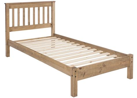 Abdabs Furniture Rustic Pine Single Bed Frame Pine Single Bed Frame