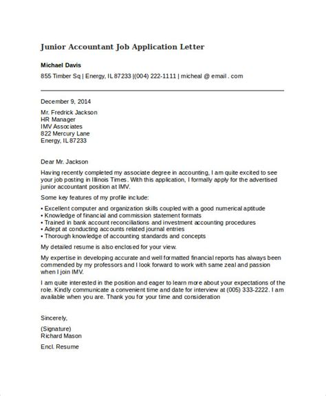 cover letter junior accountant application letter for bank pdf