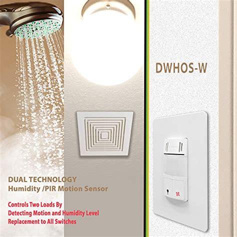 Bathroom Sensor Light Switch Humidity Switch By Enerlites 2 In 1 Humidity Motion Sensor Switch Bathroom Fan Switch