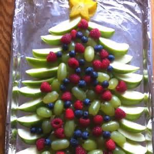 christmas tree fruit tray yummies pinterest